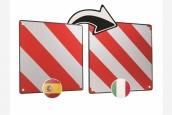 Kombi Warntafel Italien/Spanien
